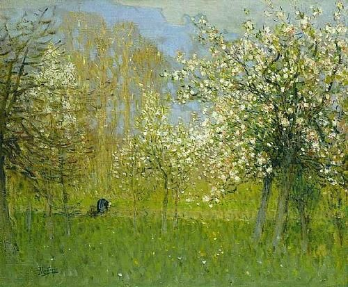 Pierre-Eugene Montezin - Pommiers en fleurs