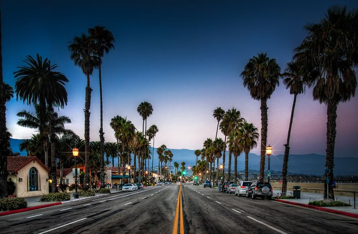 'Right after sunset in Santa Barbara, California. where the mountains touch the ocean.' - Steve Steinmetz #SantaBarbaraHoliday