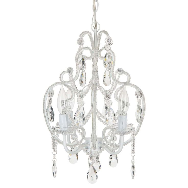 49 best shop crystal chandeliers by amalfi dcor images on 4 light beaded crystal plug in chandelier white mozeypictures Gallery