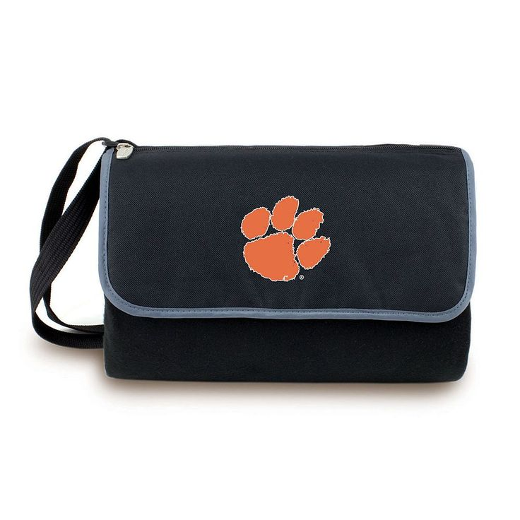 Picnic Time Clemson Tigers Blanket Tote, Black
