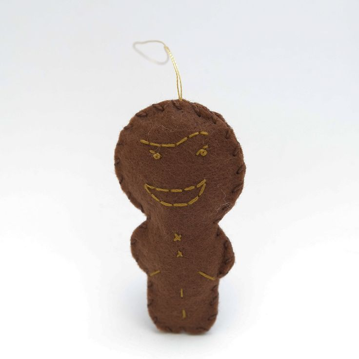 Tricky gingerbread - gingerbread man, christmas decor, christmas gift, christmas decoration, cute, adorable. by HalloweenOrChristmas on Etsy