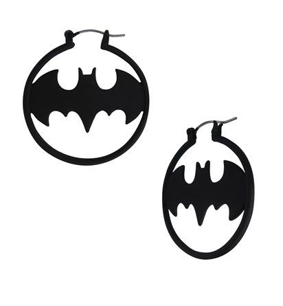 Express yourself with the Batman Symbol Hoop Earrings! This accessory is a great way to be fun and flirty while representing your nerdy side. Buy now!