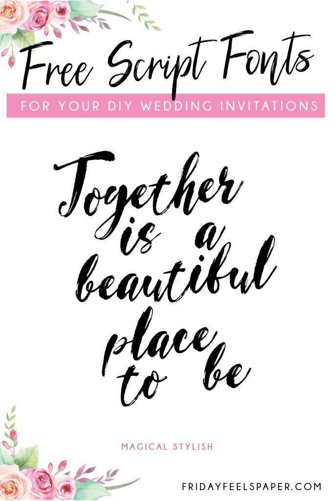 20 Free Script Fonts For Your DIY Wedding Invitations | cricut fonts
