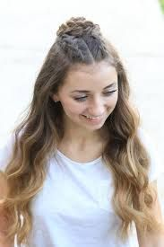 Image result for bun hairstyles half up half down