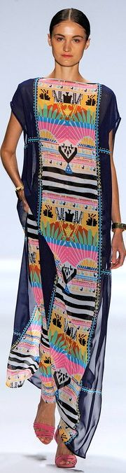 This would be a great way to highlight a textile from my travels with a simple dress pattern. mara hoffman