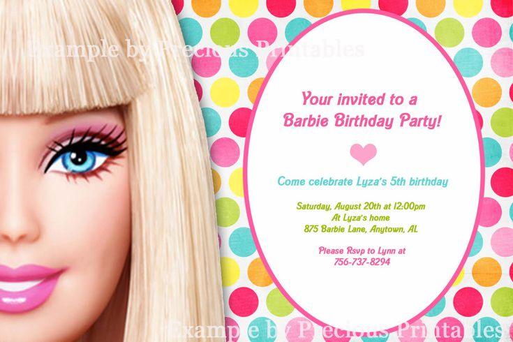 Barbie Invitation   Barbie Birthday Party   Pinterest ...