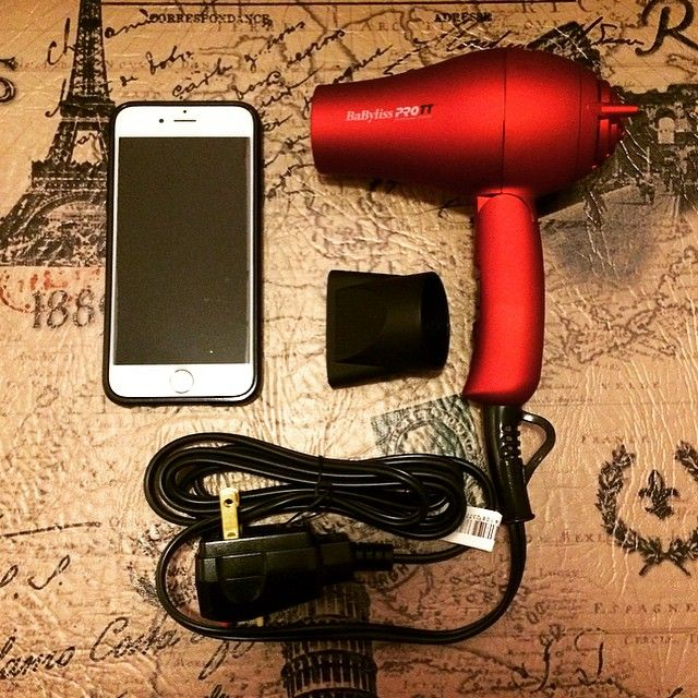 I've been searching for a small hairdryer for my upcoming trip and by the looks of this, I think I've found the world's smallest one. Surprisingly, this BaByliss Pro TT 1500 has a lot of power for something so tiny. I added my iPhone 6 in the picture for a size comparison. 24 days and counting!