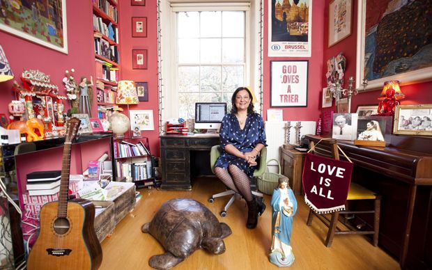 India Knight shows us round the sitting of room of her home in Camden, London   where she writes and waits for inspiration.