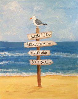 BYOB - Beach Time - Paint 'N Sip Tickets, Sat, Apr 23, 2016 at 6 ...