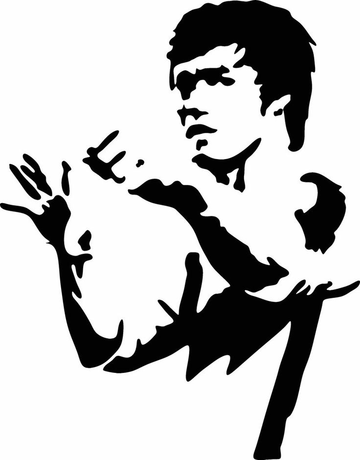 For all you Bruce Lee Fans this is a vinyl cut out Decal