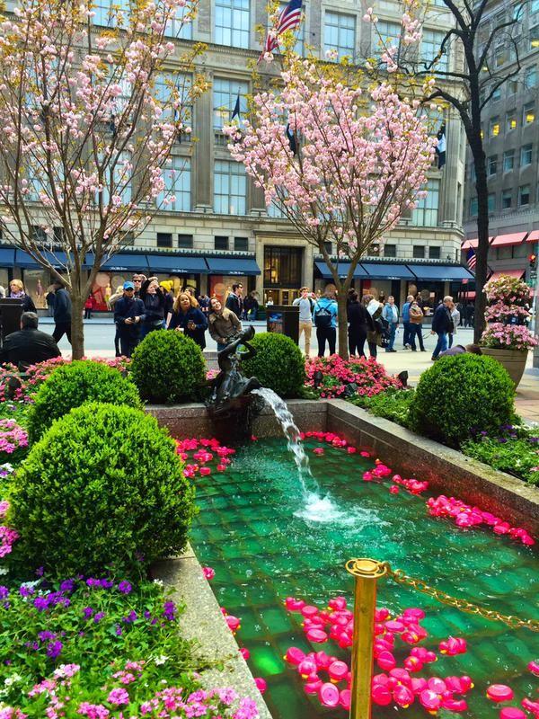 Channel Gardens Rockefeller Center opposite Saks Fifth Avenue