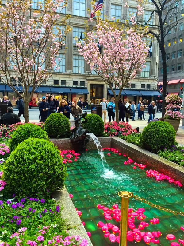 Channel Gardens Rockefeller Center opposite Saks Fifth Avenue