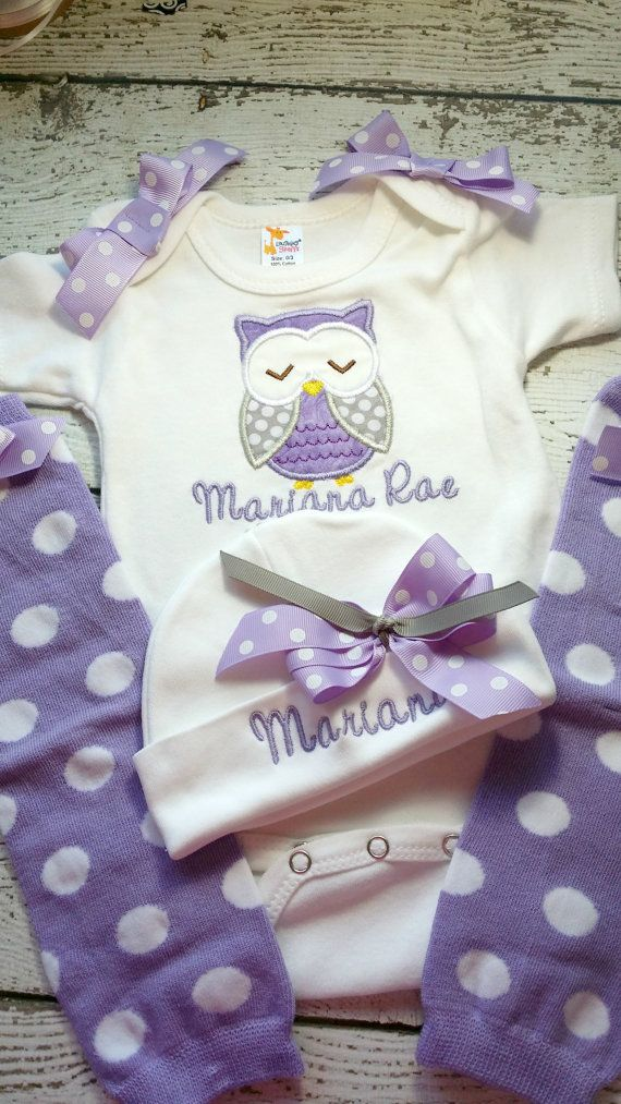 Personalized Take Home Oufit, Take Home From Hospital set, Gown, legwarmers and Hat Set, Girls Coming Home Outfit, ,