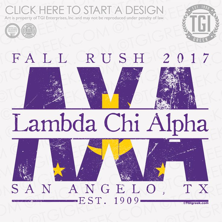 Lambda Chi Alpha | ΛΧΑ | Fall Rush | Fraternity Rush | Rush Shirt | TGI Greek | Greek Apparel | Custom Apparel | Fraternity Tee Shirts | Fraternity T-shirts | Custom T-Shirts