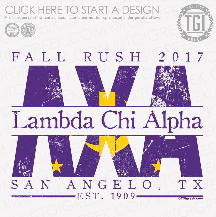 Lambda Chi Alpha | ΛΧΑ | Fall Rush | Fraternity Rush | Rush Shirt | TGI Greek | Greek Apparel | Custom Apparel | Fraternity Tee Shirts | Fraternity T-shirts | Custom T-Shirts