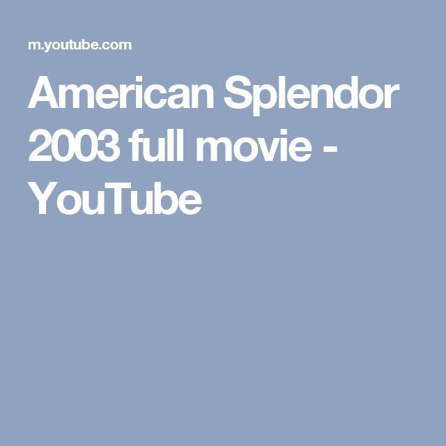 American Splendor 2003 full movie - YouTube