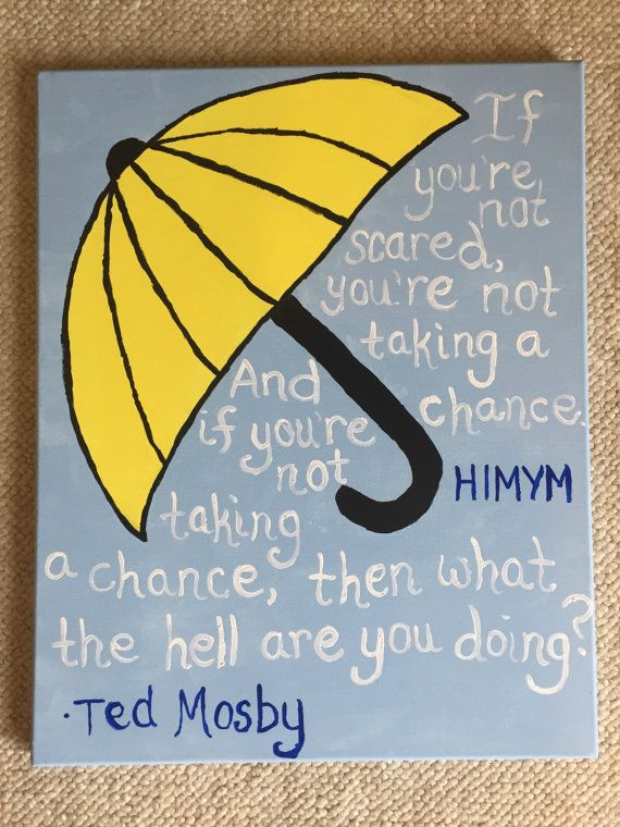 How I Met Your Mother Inspired Canvas Art by NWallArt on Etsy
