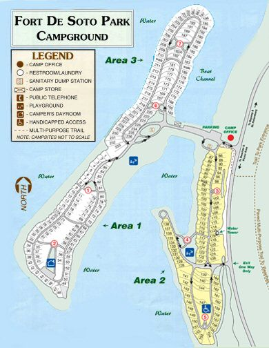 Florida Campgrounds Map.Fort Desoto Campgrounds Rv Living Rv Camping Camping Florida