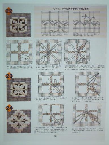 Hardanger Stickerei - ANA - Picasa Web Album with many more stitches if you go to the Picasa album