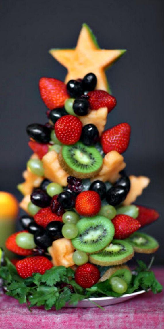 DIY Edible Christmas Fruit Tree