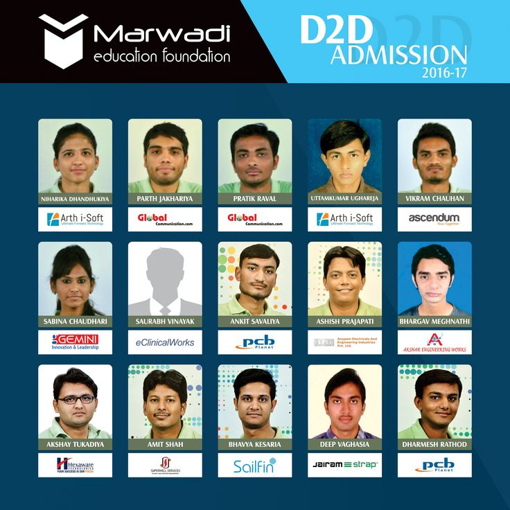 Technology leads to Technology!!  Diploma to Degree admissions are open in Marwadi Education.  Students from D2D course are getting amazing placements and industry exposure.  Here are some glimpses from the D2D placed students. Your success is important for us.  ‪#‎D2DCourse‬ ‪#‎MEFGI‬ ‪#‎MarwadiEducation‬ ‪#‎AdmissionOpen‬ Read our Blog:  http://blogs.marwadieducation.edu.in/marwadi-education-is-the-best-place-for-diploma-to-degree-students-also-for-their-placements/