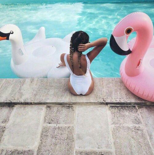 alternative, bath, beautiful, beauty, body, braids, girl, goals, hair, photography, pool, summer, swimming, swimming pool, swimsuit, tumblr, body goals, hair goals, long jair