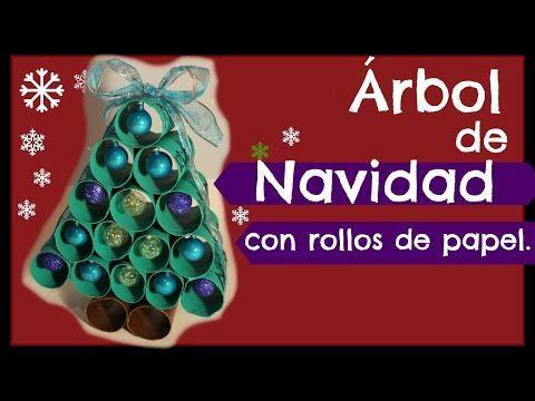 Adornos navideños con rollitos de papel del baño / Christmas ornaments recycling - YouTube