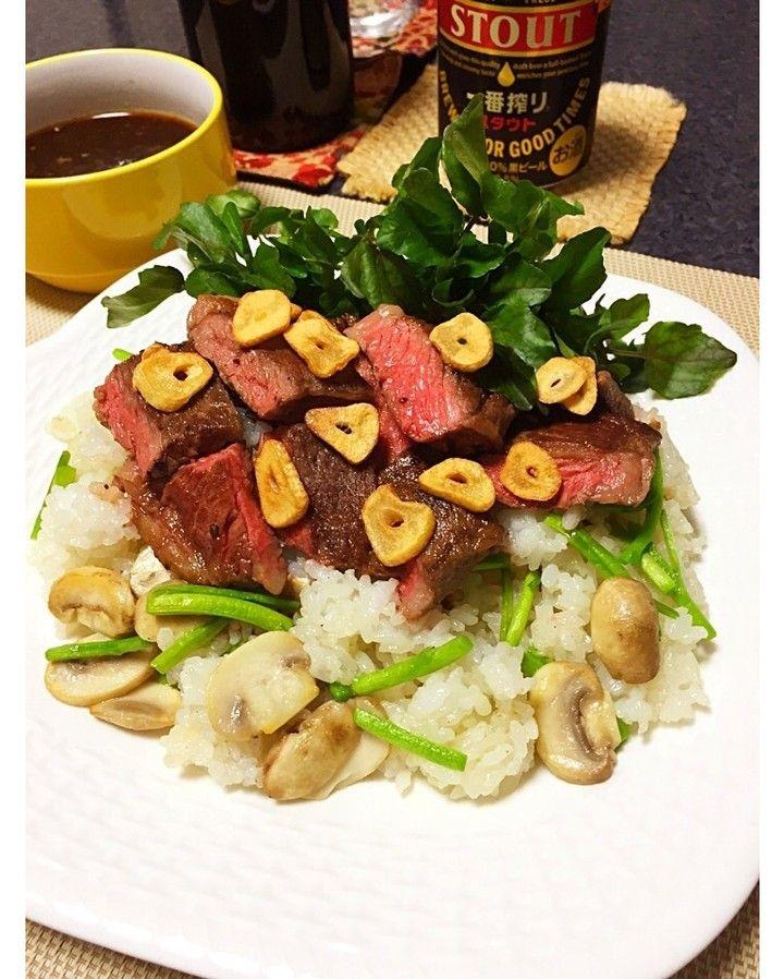 ほっけまんさんのステーキハウス風ガーリックチャーハン クレソン入り #snapdish #foodstagram #instafood #food #homemade #cooking #japan #japanesefood #steak # #料理 #手料理 #ごはん #おうちごはん #テーブルコーディネート #器 #お洒落 #和食 #ていねいな暮らし#暮らし #ばんごはん #おつまみ #うちバル #ばんごはん #男飯 #男子ごはん https://snapdish.co/d/Sbbz0a