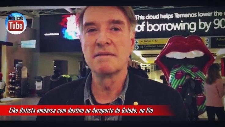 Eike Batista embarca com destino ao Aeroporto do Galeão, no Rio