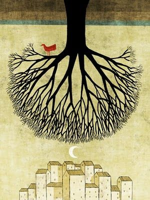 Demura. In each of his illustrations are all trees with a symbolism that is linked to life and humanity. Trees are home, shelter, inspiration, nature, landscape ... The life of the trees and the tree of life. Excellent illustrations, original and very high quality. We like the work of Toni Demura !