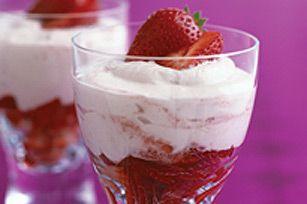 Parfaits aux fraises