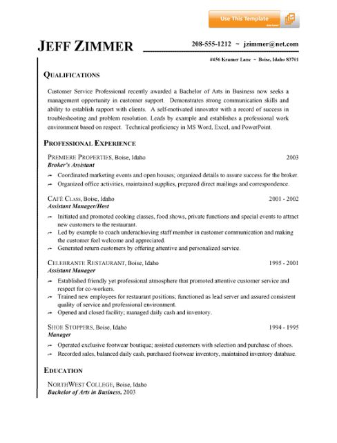210 best images about Sample Resumes – Resume for Customer Service