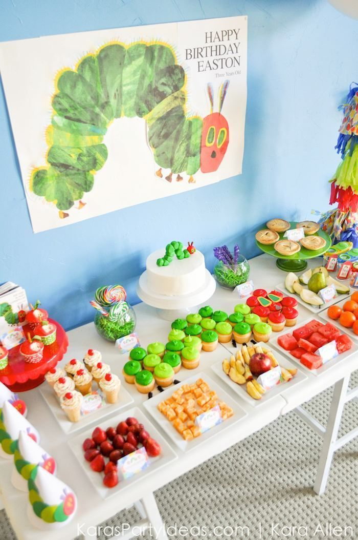The Very Hungry Caterpillar 3rd Birthday Party Kara S Party Ideas The Place For A Hungry Caterpillar Birthday Hungry Caterpillar Party 3rd Birthday Parties