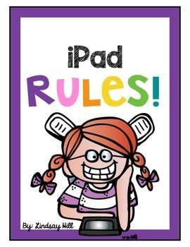 Display this set of bright and bold posters to establish rules for using iPads in the classroom.