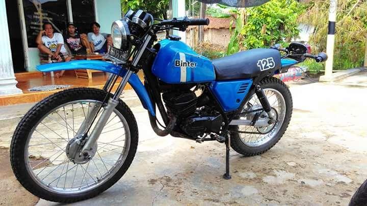 Lapal Trail Klasik KE125 Kawasaki Jadul - LAMPUNG - LAPAK MOTOR BEKAS   MOTKAS