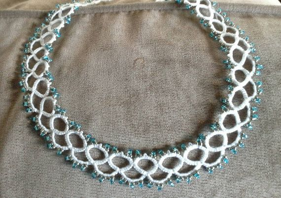Simple yet beautiful tatted necklace