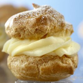 Pastry Cream (Vanilla #Custard Filling) - Rich vanilla pastry cream is the classic filling for cream puffs. Perfect served simply over fresh berries, in fruit tartlets or in a Boston cream pie.