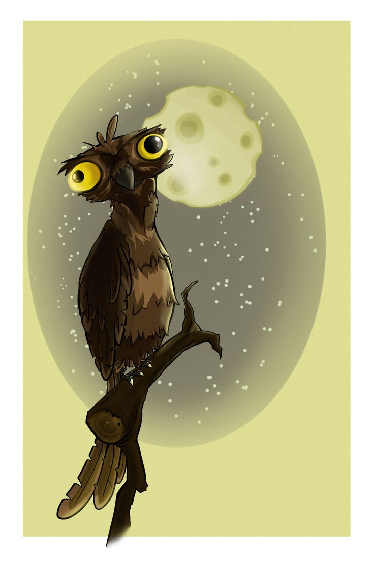 Little Photoshop creation. The Potoo bird is completely real and if you don't believe. Just look it up for yourself.