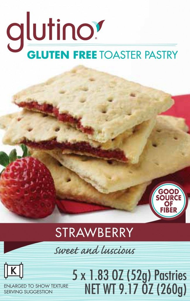 Glutino Strawberry Toaster Pastries | Food | Pinterest