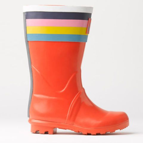 $45 BUY NOW This modern, multicolored pair of rain boots by Boden is an adorable pick for your little adventurer. Whether your daughter is a girly-girl, or not that impressed by the color pink, these boots offer style in subtle tones that she'll love. More: Best Kids'Rain Coats for the Dreariest ofDays