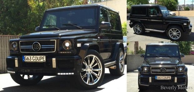2001 Mercedes-Benz G320 Coupe G63 Brabus Black on Black G55 G550 AMG Gwagon Gwagen Gelik WALD Black Bison Hamann 2 door G Class For Sale (1)