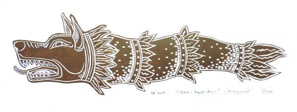 draco linocut