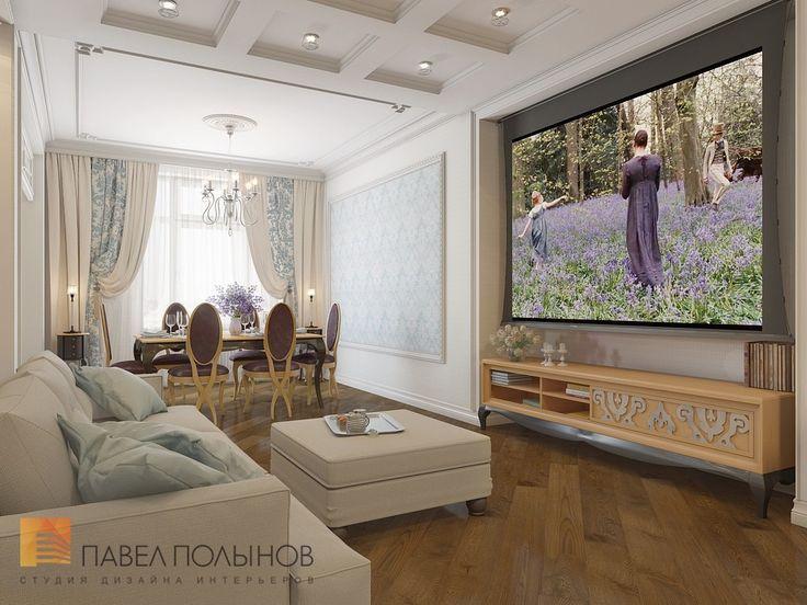 Фото: Интерьер гостиной - Двухуровневая квартира в неоклассическом стиле, ЖК «Жилой дом на Пионерской», 208 кв.м.