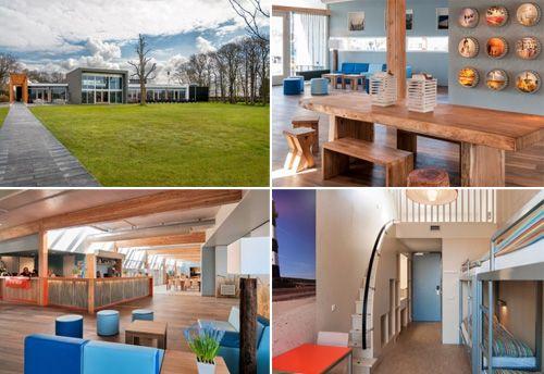 Egmond aan Zee-Stayokay Egmond- Design en duurzaam hostel, ideaal bij strand, zee en aan de Kennemerduinen. In 2012 compleet verbouwd en nu een geliefde locatie voor gezinnen en groepen.