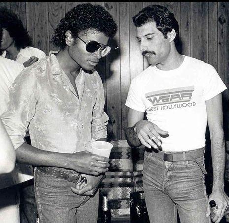 Michael Jackson and Freddie Mercury at Studio 54