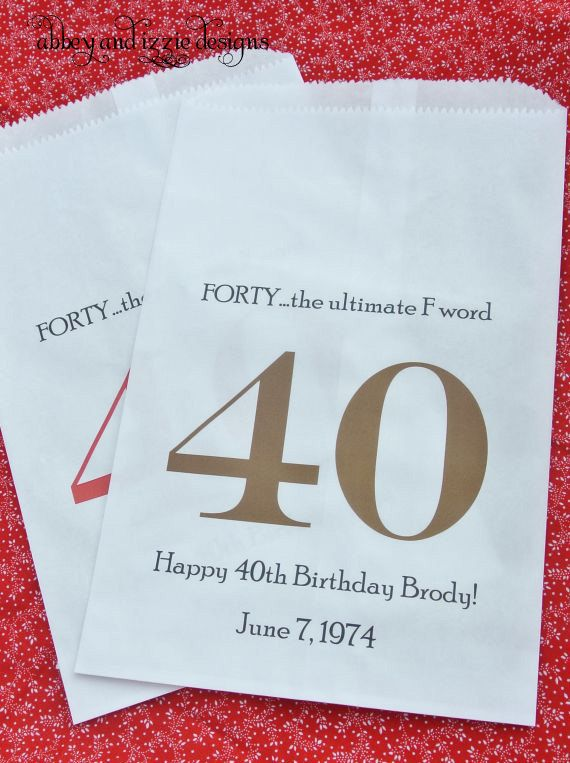 40th Birthday Favors by abbeyandizziedesigns on Etsy, $27.00