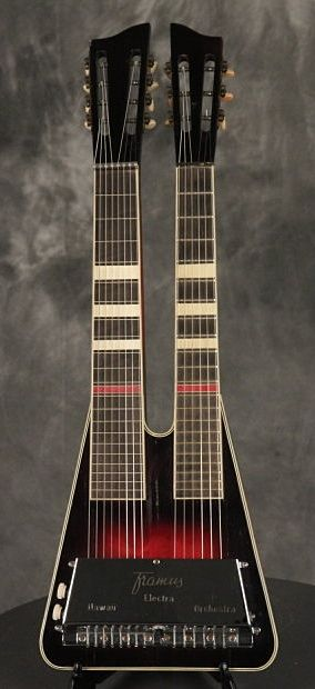 FRAMUS Electra double neck Guitar + Steel Guitar 6/8 made in Germany 1962. #music #instruments #guitar http://www.pinterest.com/TheHitman14/music-instruments/
