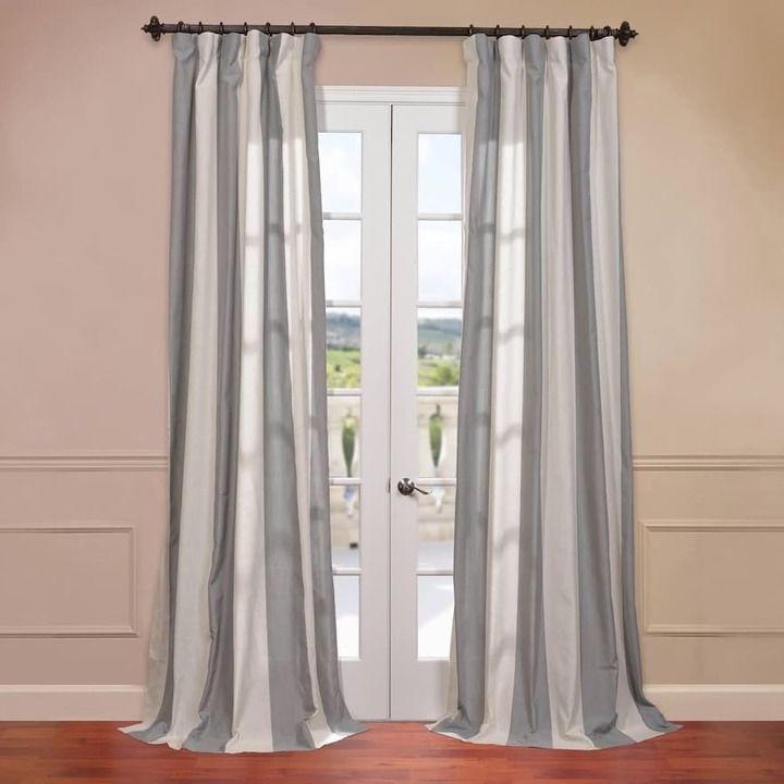 Die besten 25+ Grey striped curtains Ideen auf Pinterest - vorhänge blickdicht schlafzimmer
