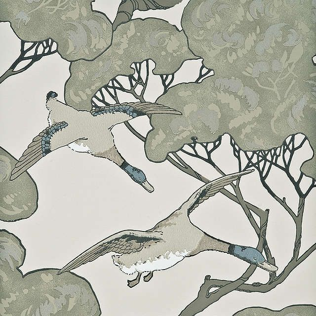 BuyMulberry Home Flying Ducks Wallpaper, FG066.J80 Online at johnlewis.com