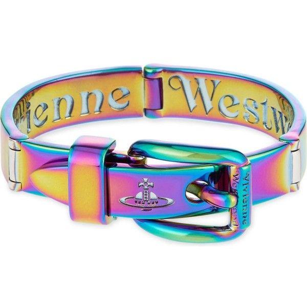 VIVIENNE WESTWOOD JEWELLERY Raphael rainbow bracelet ($260) ❤ liked on Polyvore featuring jewelry, bracelets, rainbow, vivienne westwood jewellery, vivienne westwood, vivienne westwood jewelry and rainbow jewelry